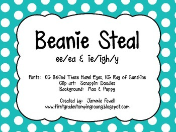 Beanie Steal - ee-ea & ie-igh-y (vowel teams)