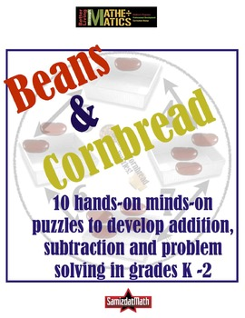 Addition and Subtraction Hands-On Beans & Cornbread Puzzles
