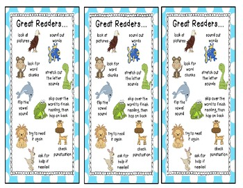 Beany Baby Decoding Bookmarks-smaller version