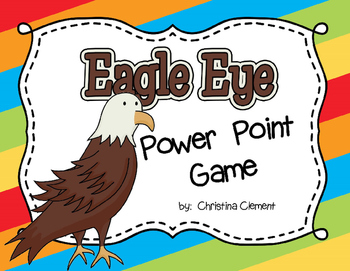 Beany Baby Decoding Game for Eagle Eyes