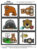 Bear - 2 Piece Puzzles - #60CentFinds - No Frills 1 Page *s