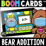 Bear Addition Math Boom Cards™ [Addition Facts 1-5] Distan