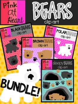 Bears Clip Art BUNDLE