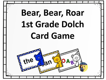 Bear Bear Roar 1st Grade Sight Words Card Game