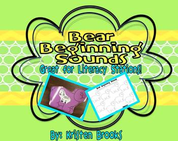 Bear Beginning Sounds (Literacy Station Activity)