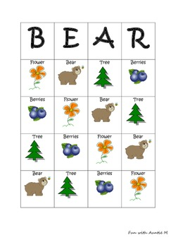 Bear Bingo