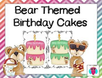 Bear Birthday Cakes