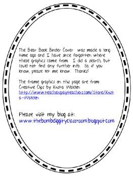 Bear Book Binder Cover