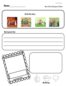Bear Books: QR Codes and Listening Center Response Sheets