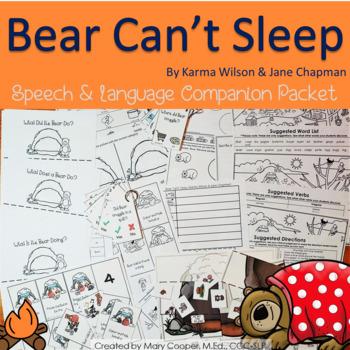 Bear Can't Sleep: Speech & Language Book Companion
