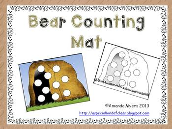 Bear Cave Counting Mat Freebie