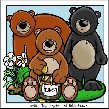 Bear Clip Art Set - Chirp Graphics
