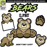 Bear Clip Art {Bears Mascot Clipart}
