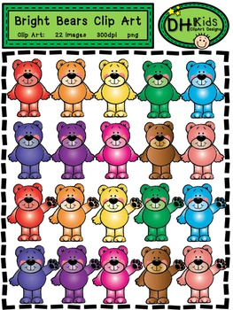 Bear Clip Art - Bright Bears