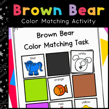 Bear Color Matching Folder Game for students with Special Education