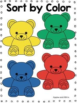 Bear Counter Kindergarten Math Unit