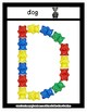 Bear Counter -  Manipulative Mats Upper & Lower Case Letters  Fine Motor Work