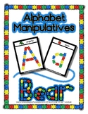 Bear Counter -  Manipulative Mats Upper & Lower Case Lette