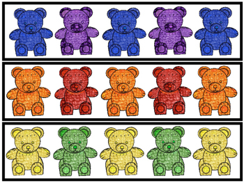 Bear Counter Pattern Cards