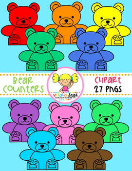 Bear Counters Clipart