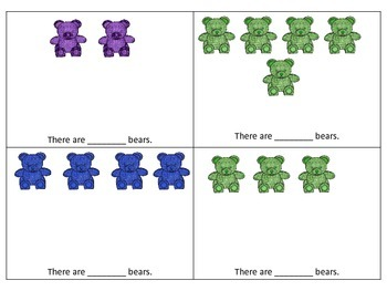 Bear Counting Booklet Numbers 1-10