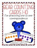 Bear Counting Cards {Numbers 1-10}