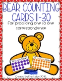 Bear Counting Cards {Numbers 11-30}