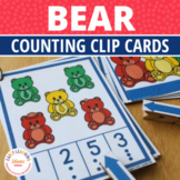 Bear Counting Activity Clip Cards   Math Activity for Preschool and Pre-k