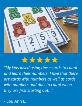 Bear Counting Activity Clip Cards | Math Activity for Preschool and Pre-k