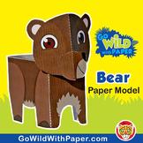 Bear Craft Activity | 3D Paper Model