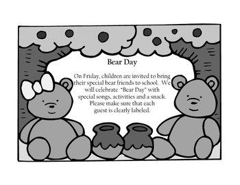Bear Day By Miss Vila