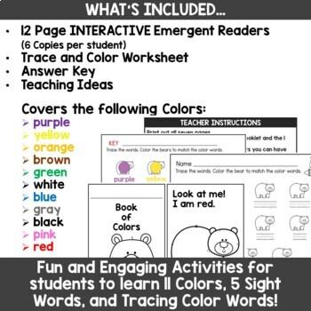 Bear Emergent Reader for PreK and Kindergarten