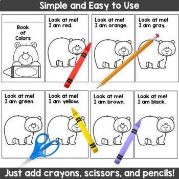 Kindergarten Color Words BEAR Emergent Mini Readers