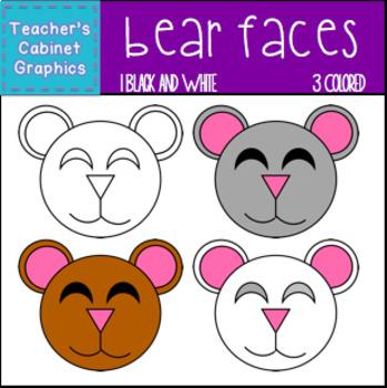 Bear Faces {Teacher's Cabinet Graphics}
