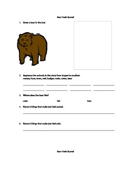 Bear Feel Scared Activities for Fall