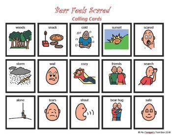 Bear Feels Scared BOARDMAKER Bingo