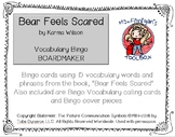 Bear Feels Scared BOARDMAKER Bingo