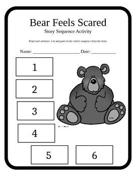 Bear Feels Scared Work Sheets