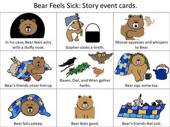 Bear Feels Sick: Picture Based Book Companion