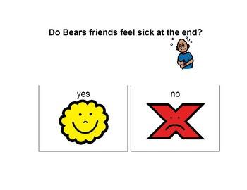 Bear Feels Sick Question Book