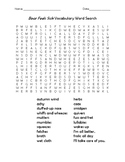 Bear Feels Sick Vocabulary Word Search
