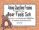 Asking Questions Freebie inspired by Bear Feels Sick by Karma Wilson