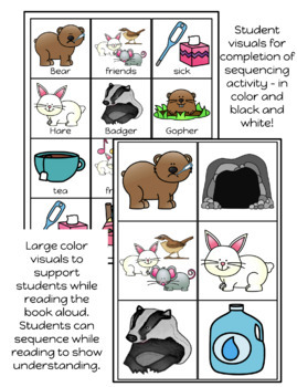 Bear Feels Sick - retelling visuals & sequencing book
