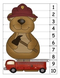 Bear Fireman Number Puzzle