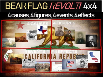 Bear Flag Revolt - 4 causes, 4 figures, 4 events, 4 effect