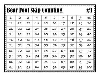 Bear Foot Counting