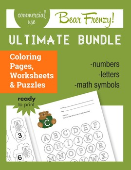 """Bear Frenzy! (""""The Bundle""""), Math, Reading, Numbers, Handwriting and more..."""