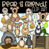 Bear & Friends Clipart (Color & Blackline) - Homeschool in