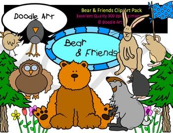 Bear & Friends Clipart Pack