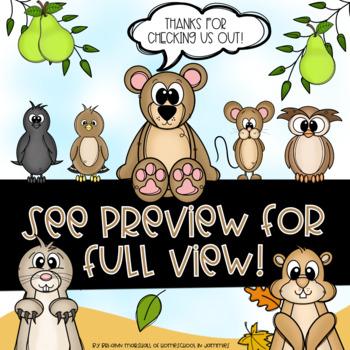 Bear & Friends Counting Activity Pack - Kindergarten Math (Bear Says Thanks)